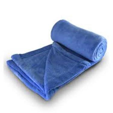 Cobertor Manta Microfibra Queen Azul  - Linha Avulsa