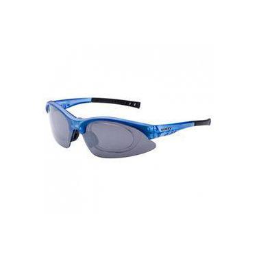 Óculos Ciclista Giant Barnett Azul Com Lentes Fumê