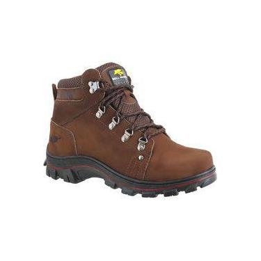 Bota Adventure Trilha Walker Leather Palmilha Gel Ref 650 Chocolate