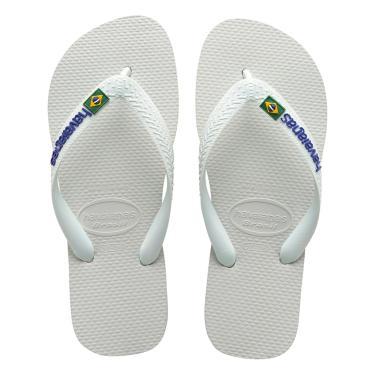 Sandália Havaianas Brasil Logo Branco  masculino