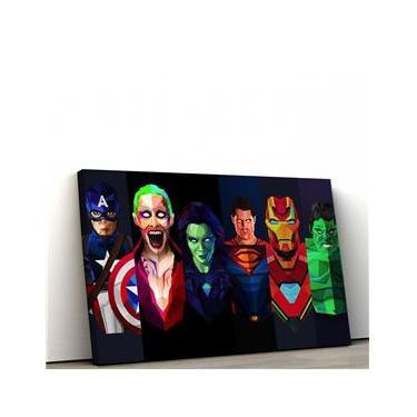 Quadro Decorativo 60x90cm Marvel VS DC II