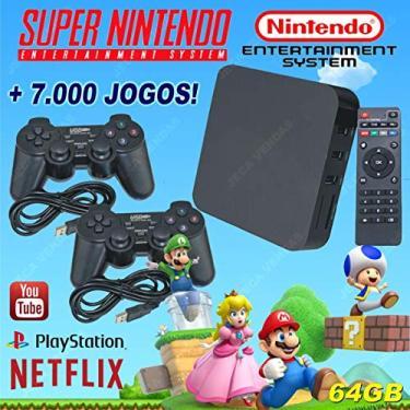 Imagem de Super Game Box - Video Game Retro Multijogos Com 7000 Jogos