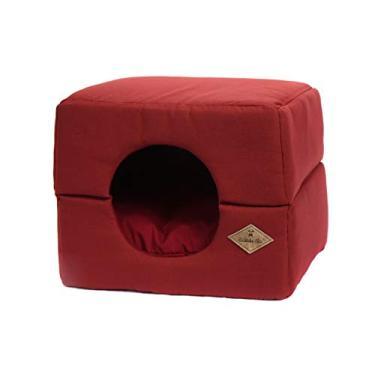 Cama para Cachorro Pet Casa Londres Pequeno - P - Vinho - Bichinho Chic