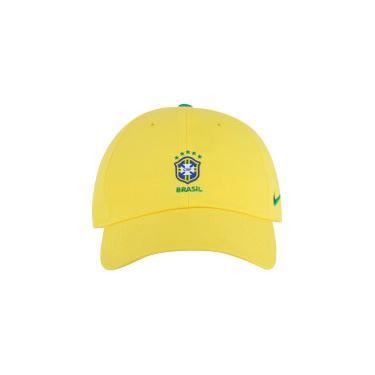 Boné Aba Curva da Seleção Brasileira 2018 Nike H86 Core - Strapback - Adulto  - AMARELO Nike a9e2432263b16