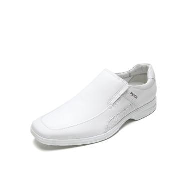 Sapato Social Couro Ferracini Liso Branco Ferracini 3440-562J masculino