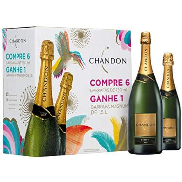 Espumante Chandon Reserve Brut 750ml Pack com 6 garrafas de 750-ml + 1 garrafa de 1,5L
