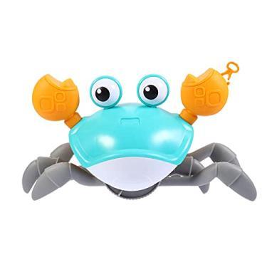 Imagem de STOBOK Caranguejo Brinquedo de Banho para Meninos Brinquedos para Crianças Atividades Ull Infantil Wind Up Bath Tub Toy Azul