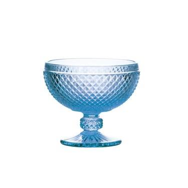 Jogo de Taças para Sobremesa Bon Gourmet Bico de Jaca Azul 300 ml - 6 peças