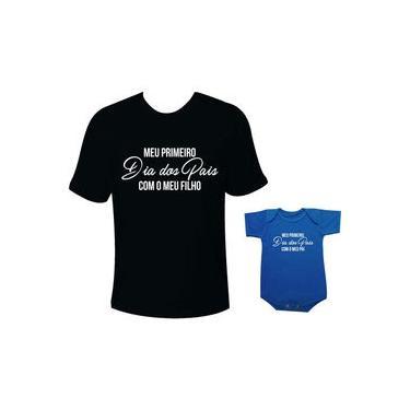 Camiseta E Body Tal Pai Tal Filho Meu Primeiro Dia Dos Pais Com Meu Filho