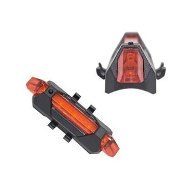 Lanterna Traseira Pisca USB Sinalizador Bike