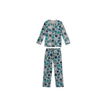 Pijama Infantil de Inverno Masculino Monstrinhos Cinza - Malwee