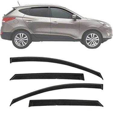 Calha de Chuva Esportiva Hyundai IX35 2011 12 13 14 15 16 17 18 19 Fumê