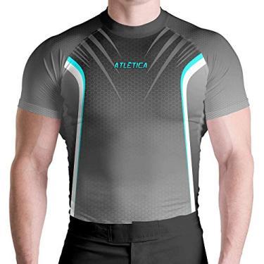 Imagem de Rash Guard Sport Termica Prot UV ATL Tamanho:GG;Cor:Cinza