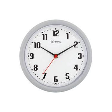 86b66056da9 Relógio De Parede 22 Cm Diâmetro Cinza Herweg