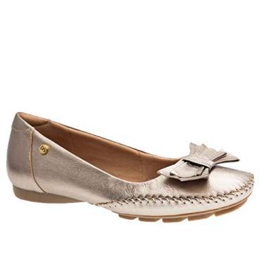 Sapato Feminino em Couro Metalic 2778 Doctor Shoes-Bronze-34