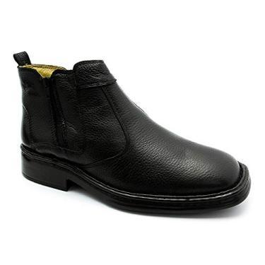 Imagem de Bota Masculina 1001 em Couro Floater Preto Doctor Shoes-Preto-43