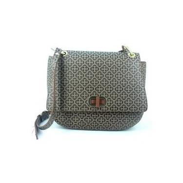 a2328298c Bolsa Feminina Capodarte Monograma Tiracolo Shoulder Bag Média Bege Marrom  4602376