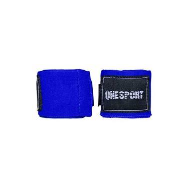 Bandagem Elastica 3 Metros Atadura One Sport Muay Thai Azul