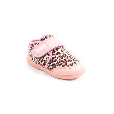 Sapatênis Infantil De Lã Rosa Com Onça Katurê