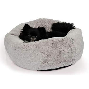 Cama Canadá Super Fofa - Cinza - TAMANHO M - Médio - Bichinho Chic para Cachorro e Gato