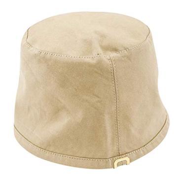 PRETYZOOM Chapéu balde dupla face, chapéu de pescador, chapéu de proteção solar para mulheres, acessórios de verão (Cáqui)