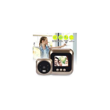 Imagem de Campainha de Segurança Sem Fio inteligente 720 P HD Campainha de Segurança Câmera Campainha Interior Visão Noturna Controle de Detecção pir