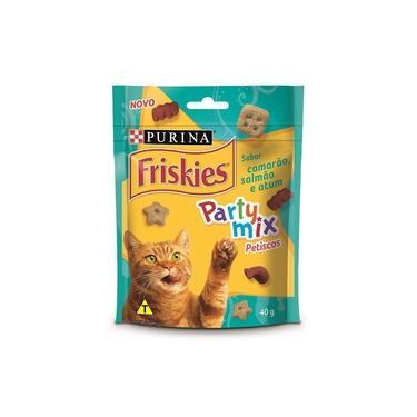 Friskies Party Mix Party Mix para Gatos Adultos Camarão, Salmão e Atum - 40 g