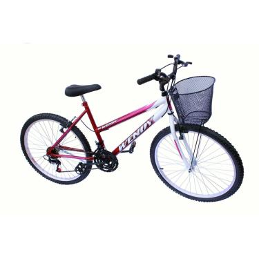 Bicicleta Aro 26 Wendy Fem Mtb 18M Convencional Cor Vermelho