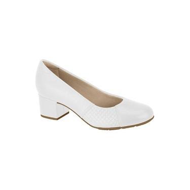 Imagem de Sapato Modare Salto Baixo Napa Floather Confort, Pele Strech Branco - 7316108