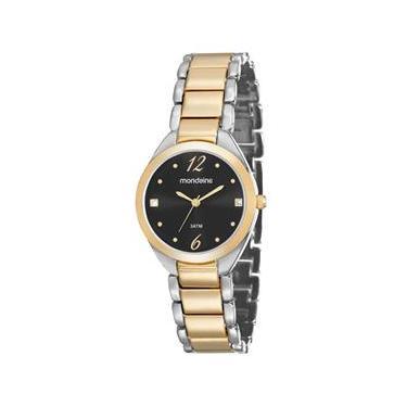 18e435b812c Relógio Analógico Feminino Mondaine 53566LPMVBE2 – Prata Dourado