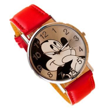 278e6bbe4f7 Relógio De Pulso Adolescente criança Mickey Mouse - Vermelho