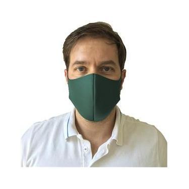Máscara De Proteção Respiratória Em Neoprene Lavável Verde