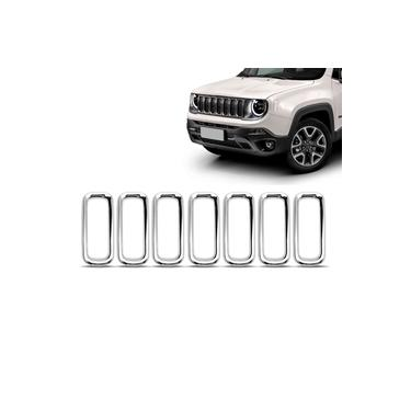 Imagem de Kit Aplique Grade Cromada Jeep Renegade 2015 16 17 18