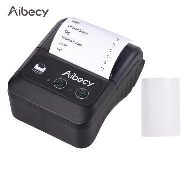 Imagem de Mini impressora de etiquetas portátil bluetooth, 58mm, 2 polegadas, sem fio, bluetooth, térmica,