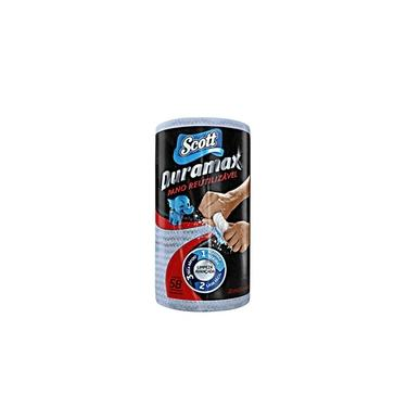 Pano Reutilizável AzulDuramax c/ 58un Scott