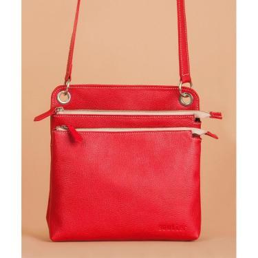 Bolsa Soulier Bolsa Transpassada Relaxe Vermelho  feminino