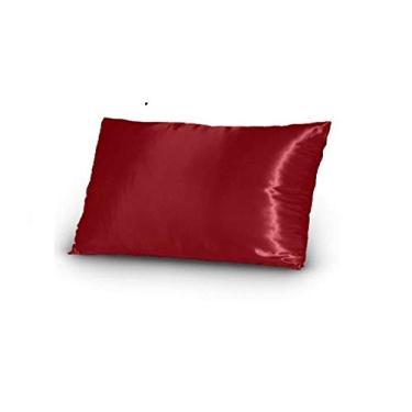 Imagem de 10 Fronhas De Cetim Seda vermelho Anti Frizz Alto Brilho