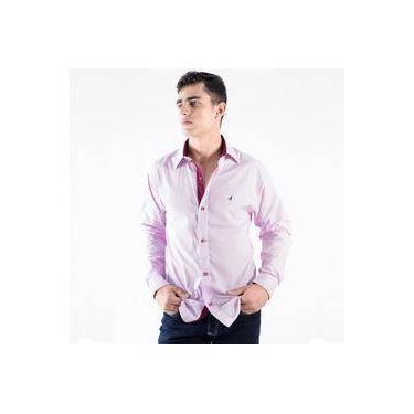 Camisa Zimpool Social Slim Fit Manga Longa Lilas - PP d1e7614fff5b8