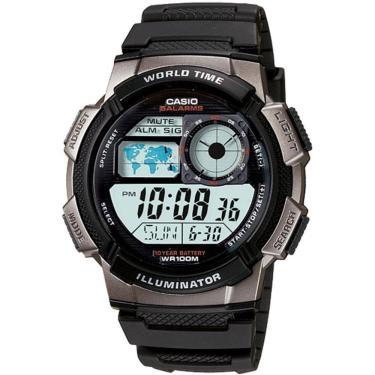 693a333e680 Relógio Masculino Casio Digital AE1000W1BVDF - Preto Cinza