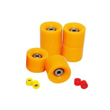 Rodas Skate Colorida Kit Com 4 Rolamento Abec 7