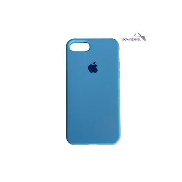 Capa Slim Colorida Azul-claro iPhone SE 2020 Silicone Flexível