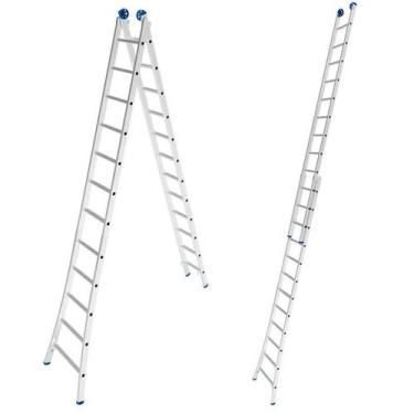 Escada de Alumínio Extensiva 2 x 12 Degraus 3,65 x 6,17 Metros MOR