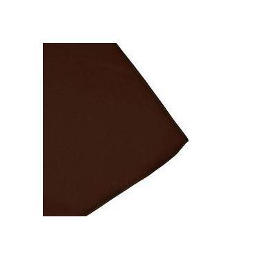 Imagem de Toalha De Mesa Cobre Mancha Quadrado Em Tecido Marrom 0,75m