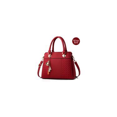 Imagem de 6 bolsas e bolsas femininas Coplors bolsas femininas bolsas de ombro vinho vermelho