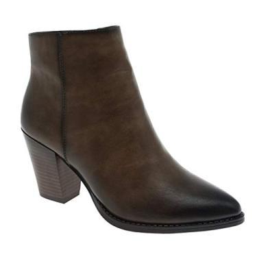 Imagem de MVE Shoes Bota feminina Pierre Dumas no tornozelo com fivela lateral, Taupe*c2, 6