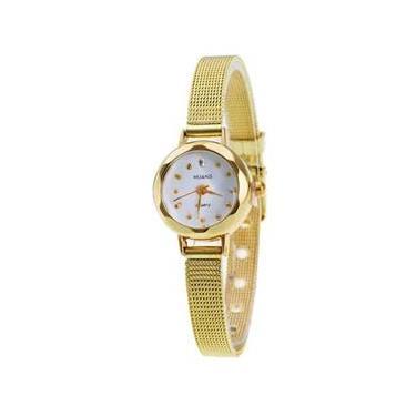 1dafbe18896 Relógio De Pulso Quartzo De Discagem Pulseira Aço Inoxidável