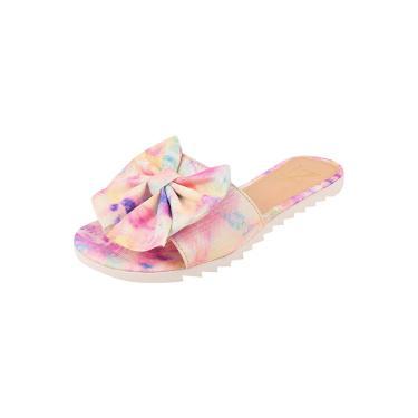 Rasteira Tie Dye PassoChiq Laço Multicolorido Tie Dye  feminino