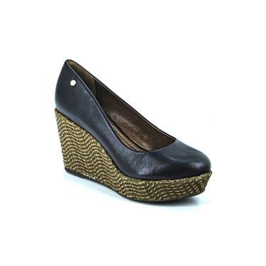 Sapato Feminino Anabela Em Couro Carrano 114112D