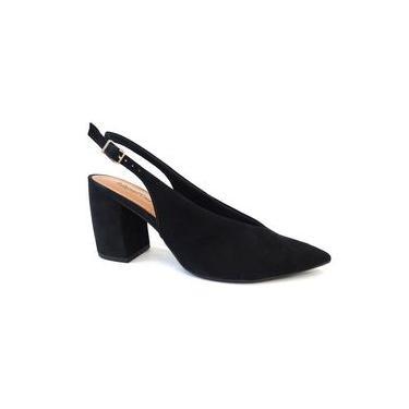 Sapato Chanel De Couro Conforto Z2402 - Usaflex 79 - Preto