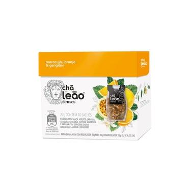Chá Leão Senses Maracujá, Laranja & Gengibre Sachês - 10Ud